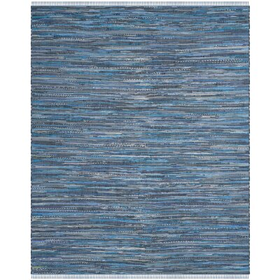 Naarden Hand-Woven Blue Area Rug Rug Size: Rectangle 9 x 12