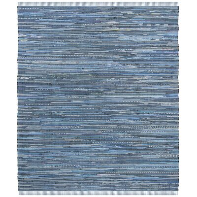 Naarden Hand-Woven Blue Area Rug Rug Size: Square 4