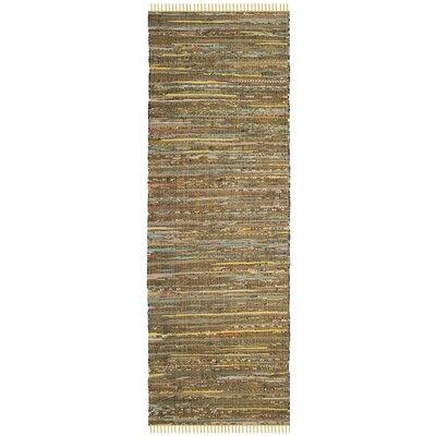 Nessadiou Hand-Woven Yellow/Multi Area Rug Rug Size: Runner 23 x 11