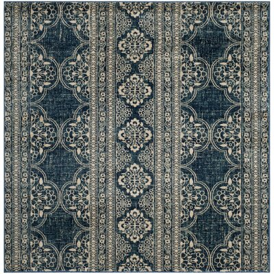 Ferry Royal/Ivory Area Rug Rug Size: Square 67