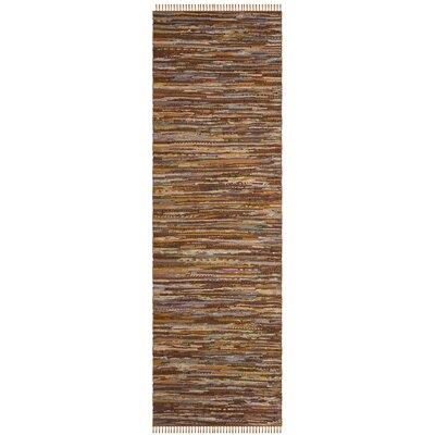Apeldoorn Hand-Woven Brown Area Rug Rug Size: Runner 23 x 12