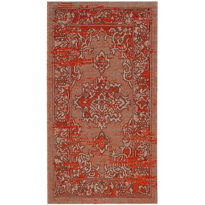 Port Laguerre Orange Area Rug Rug Size: Rectangle 26 x 5