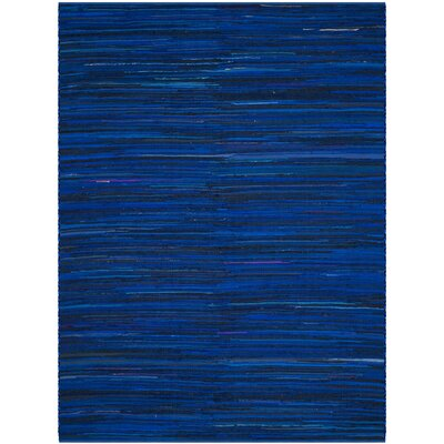 Sanabria Hand-Woven Blue Area Rug Rug Size: Rectangle 9 x 12