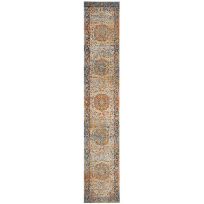 Marigold Blue/Orange Area Rug Rug Size: Runner 22 x 10