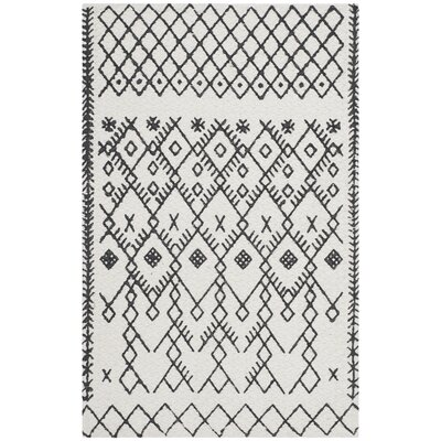 Owen Hand-Loomed Cotton Ivory Area Rug Rug Size: Rectangle 26 x 4