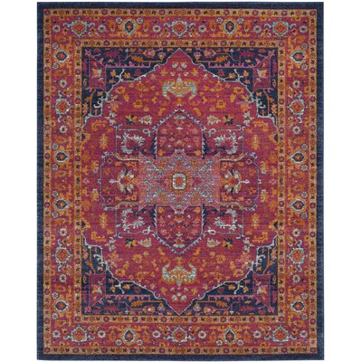 Schneider Cotton Fuchsia Area Rug Rug Size: Rectangle 12 X 18