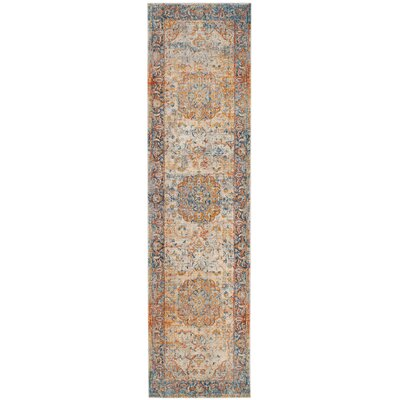 Marigold Blue/Orange Area Rug Rug Size: Runner 22 x 6