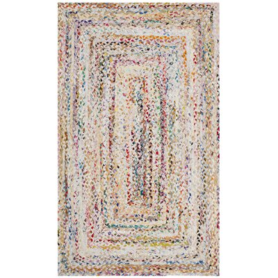 Hurst Hand-Woven Cotton Ivory Area Rug Rug Size: Rectangle 4 x 6