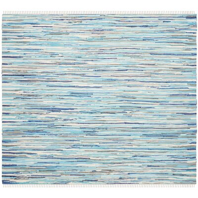 Samia Hand-Woven Blue Area Rug Rug Size: Square 4