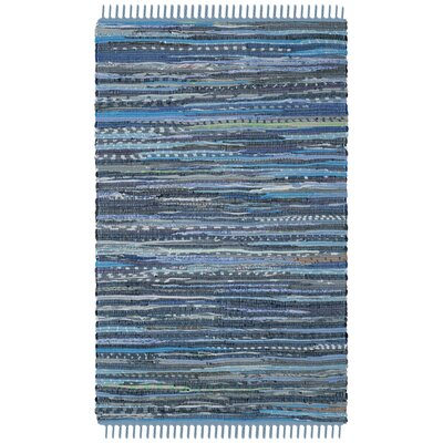 Naarden Hand-Woven Blue Area Rug Rug Size: Rectangle 2 x 3