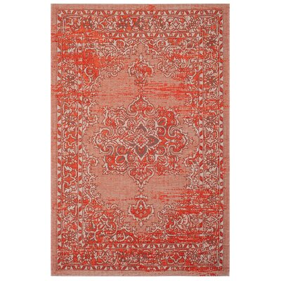 Port Laguerre Orange Area Rug Rug Size: Rectangle 5 x 8