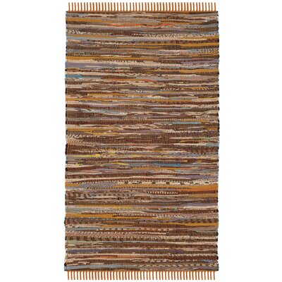 Apeldoorn Hand-Woven Brown Area Rug Rug Size: Rectangle 2 x 3