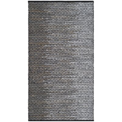 Erik Hand-Woven Light Grey/Grey Area Rug Rug Size: Rectangle 23 x 4