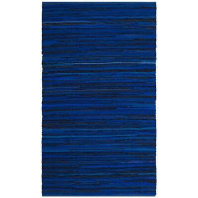 Sanabria Hand-Woven Blue Area Rug Rug Size: Rectangle 2 x 3
