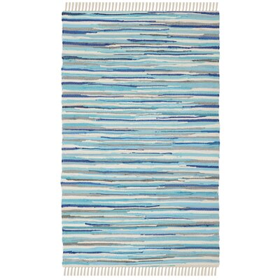 Samia Hand-Woven Blue Area Rug Rug Size: Rectangle 2 x 3