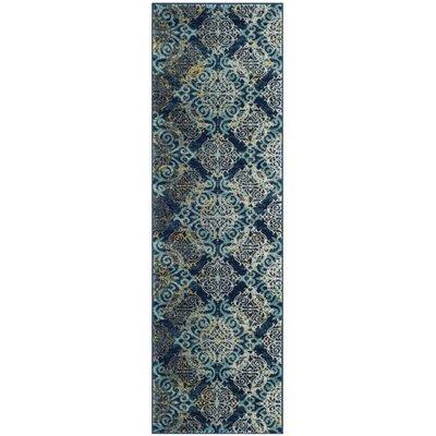 Ameesha Blue/Gray Area Rug Rug Size: Runner 22 x 9