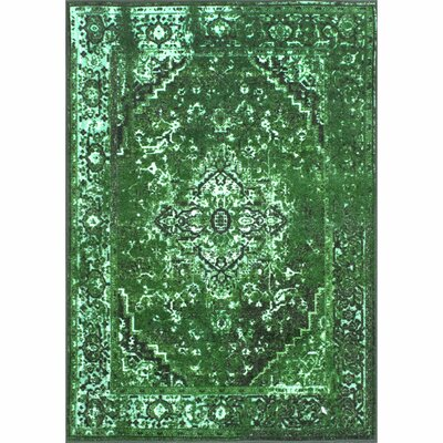 Radeema Green Area Rug Rug Size: Rectangle 3 x 5