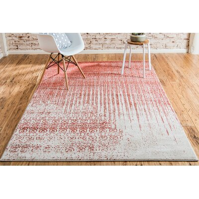 Dungan Red Area Rug Rug Size: Rectangle 7 x 10