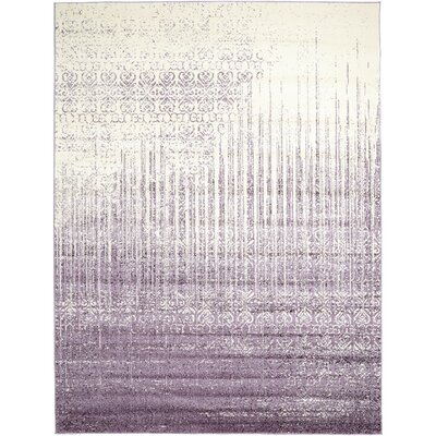 Dungan Purple Area Rug Rug Size: Rectangle 9 x 12