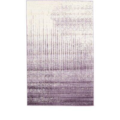 Dungan Purple Area Rug Rug Size: Rectangle 5 x 8