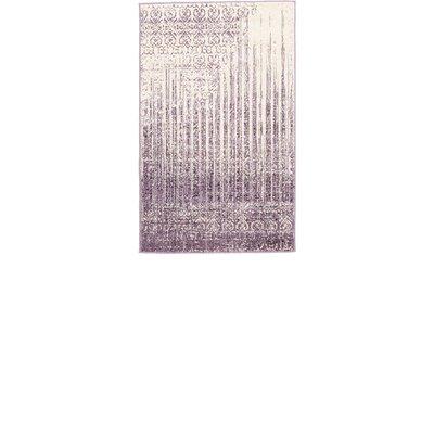 Dungan Purple Area Rug Rug Size: Rectangle 33 x 53