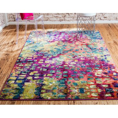 Massaoud Machine Woven Area Rug Rug Size: Square 8