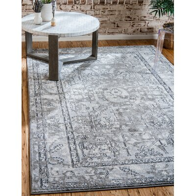 Lisbon Gray Area Rug Rug Size: Rectangle 8 x 11