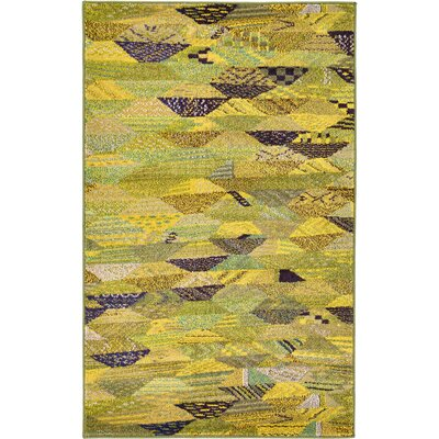 Roshan Green Area Rug Rug Size: Rectangle 106 x 165