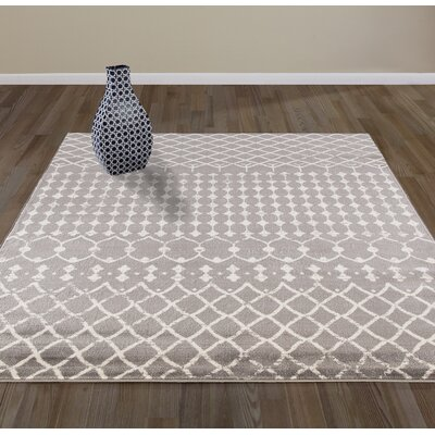 Peabody Moroccan Beni Ourain Gray/Beige Area Rug Rug Size: 710 x 910