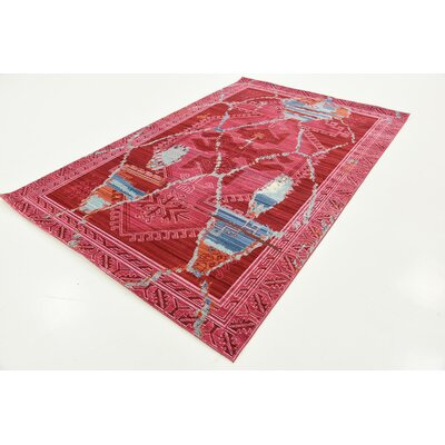 Rune Magenta Area Rug Rug Size: Rectangle 5 x 8