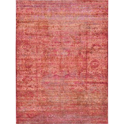 Danbury Red Area Rug Rug Size: Rectangle 7 x 10