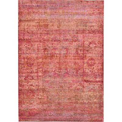 Rune Red Area Rug Rug Size: Rectangle 6 x 9