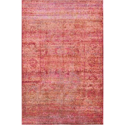 Rune Red Area Rug Rug Size: Rectangle 5 x 8