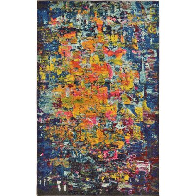 Fujii Pink/Yellow Area Rug Rug Size: Rectangle 7 x 10