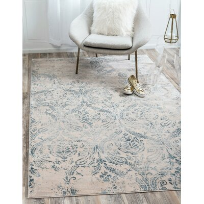 Mellal Blue Area Rug Rug Size: Rectangle 7 x 10