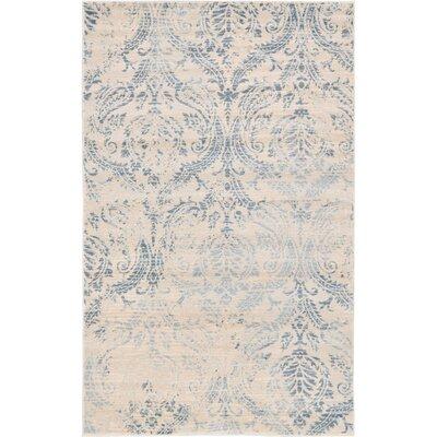 Mellal Blue Area Rug Rug Size: Rectangle 33 x 53