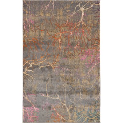 Sepe Gray Area Rug Rug Size: Rectangle 5 x 8