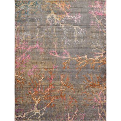 Sepe Gray Area Rug Rug Size: Rectangle 9 x 12