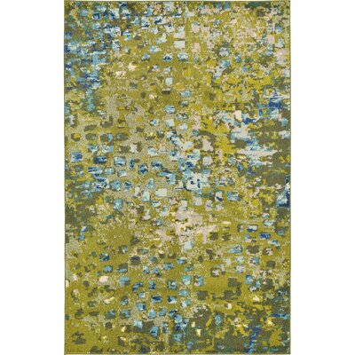 Fujii Green Area Rug Rug Size: Rectangle 4 x 6