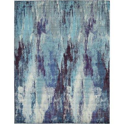 Fujii Blue Area Rug Rug Size: Rectangle 10 x 13