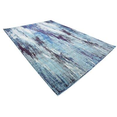Fujii Blue Area Rug Rug Size: Rectangle 7 x 10