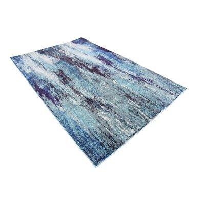 Fujii Blue Area Rug Rug Size: Rectangle 5 x 8