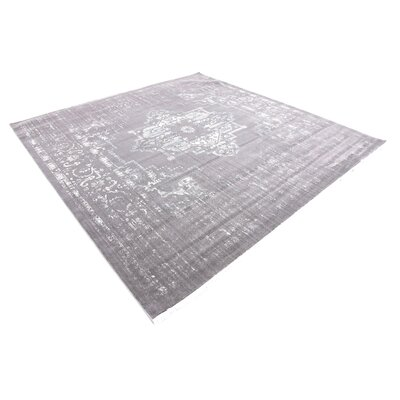 Sherrill Light Gray Area Rug Rug Size: Square 8