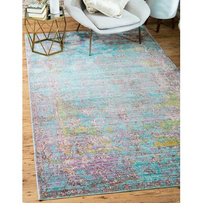 Hajeb Blue Area Rug Rug Size: Rectangle 9 x 12