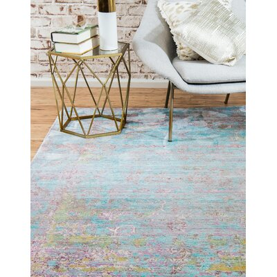 Hajeb Blue Area Rug Rug Size: Rectangle 5 x 8