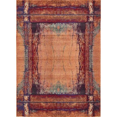 Fujii Orange Area Rug Rug Size: Rectangle 9 x 12