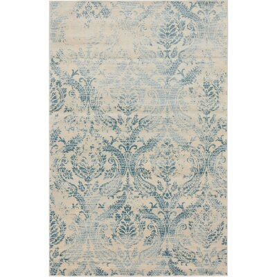 Mellal Blue Area Rug Rug Size: Rectangle 4 x 6