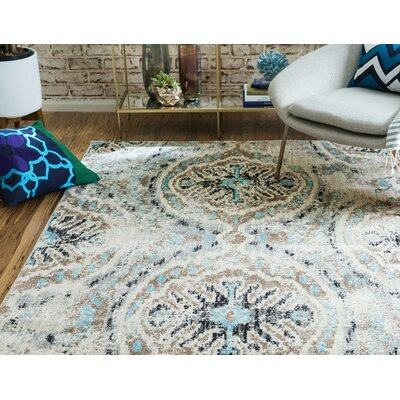 Alstrom Silver Area Rug Rug Size: Rectangle 4 x 6