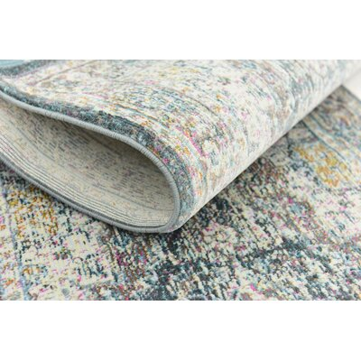 Lonerock Aqua Area Rug Rug Size: Rectangle 43 x 6
