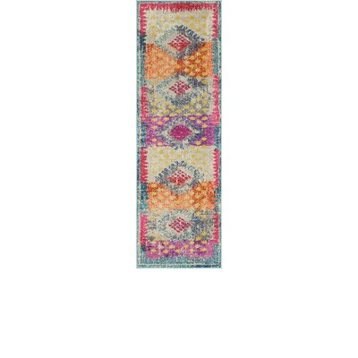 Cassava Purple/Orange/Blue Area Rug Rug Size: Runner 2 x 67